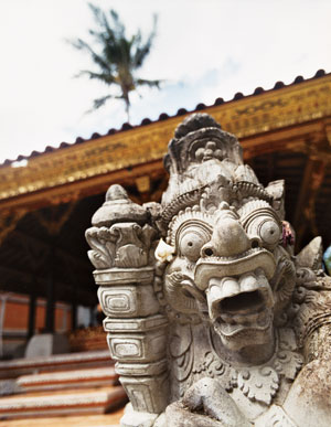 A detail from the royal palace in Ubud, Bali.